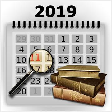 calendar 2019